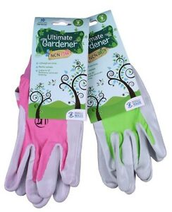 Ultimate-Gardener-Ncn-740-Nitril-Palme-Gartenhandschuhe-Rosa-oder-Gruen
