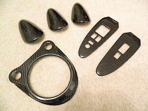 Carbon-Interieur-Schaltung-AT-Fensterheber-Dash-trim-passt-fuer-Nissan-370Z-Z34