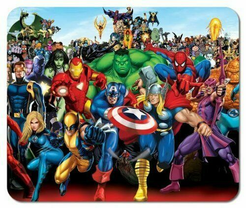 Marvel Super Hero Characters #2 Large Mouse pad Mouse Pads Mat