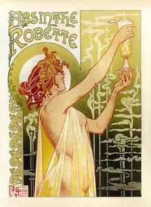 A3 SIZE Vintage French Art Nouveau Shabby Chic 001 Retro Poster Print Art