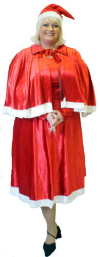 DELUXE MOTHER CHRISTMAS//MRS CLAUS Fancy Dress ALL SIZES// PLUS SIZES