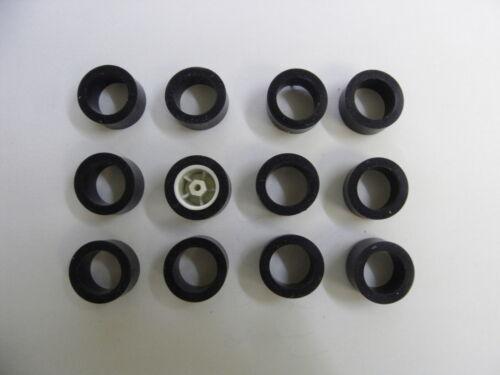 CARRERA SERVO Plus 140 V2 V3 12 Stück Hinterreifen Reifen Supergripp NEU