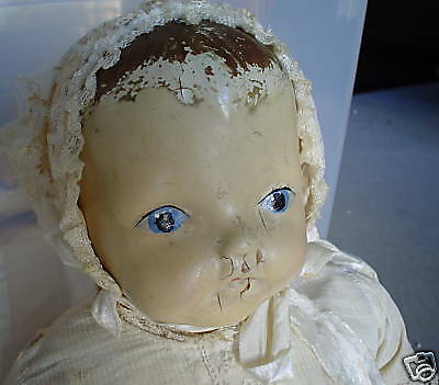Antique Composition Cloth Baby Girl Doll LOOK