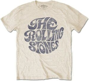 THE-ROLLING-STONES-Classic-Vintage-1970s-Band-Logo-T-SHIRT-OFFICIAL-MERCHANDISE