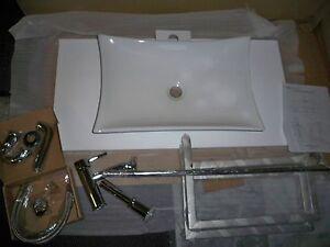 Waschtisch Handtuchhalter Einhebelmischer Syphon Komplettset