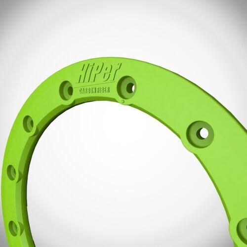 "Hiper Wheels CF1 Tech 3 Wheel Rim Replacement Beadlock Ring 10 Inch 10/"" Green"