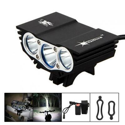 12000Lm 3x XM-T6 SolarStorm LED Front Bicycle Lamp Bike Light Headlight HeadLamp
