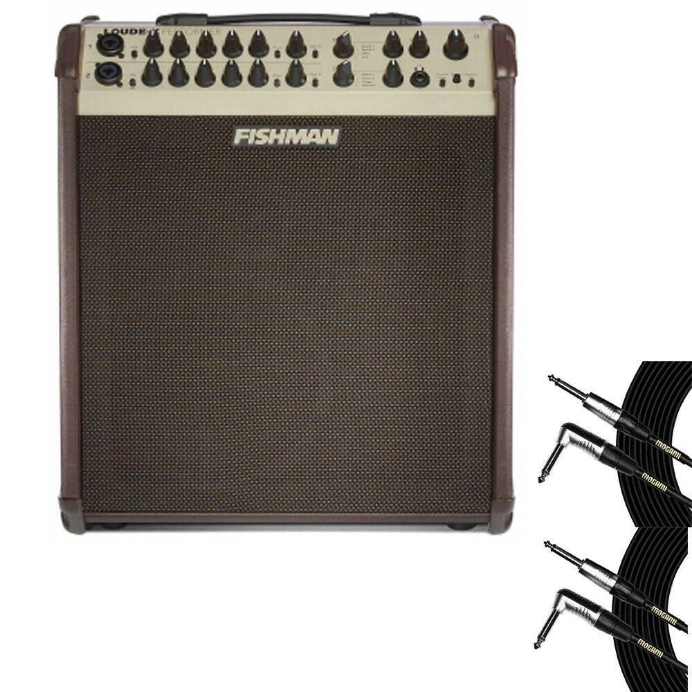 Fishman Loudbox PERFORMER Acoustic Guitar Vocal Amp w  (2) 20' Mogami Cables
