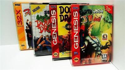 25 Box Protectors For SEGA GENESIS / MASTER / 32X Video Game Boxes Display  CIB