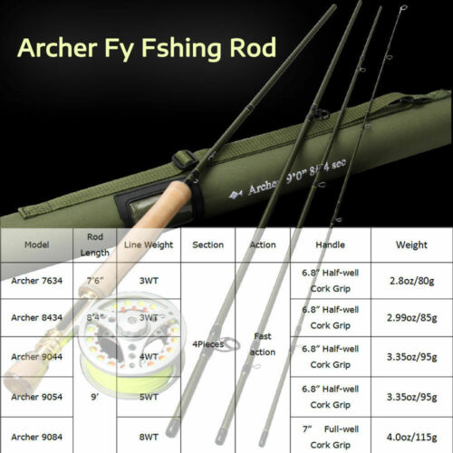 """7/'6/""""//8/'//9/' Fly Rod 3 4 5 8WT IM10 36T Carbon Fiber Fast Action Fly Fishing Rod"""