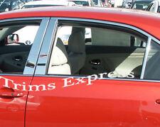Fit for 2009-2014 Hyundai Genesis 6Pc Chrome Pillar Post Trim Stainless Steel
