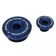 APICO ENGINE PLUG SET KAWASAKI KXF250 04-10 BLUE