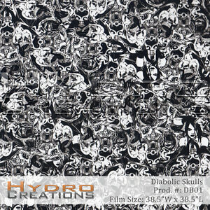 HYDROGRAPHIC FILM FOR HYDRO DIPPING WATER TRANSFER FILM DIABOLIC SKULLS