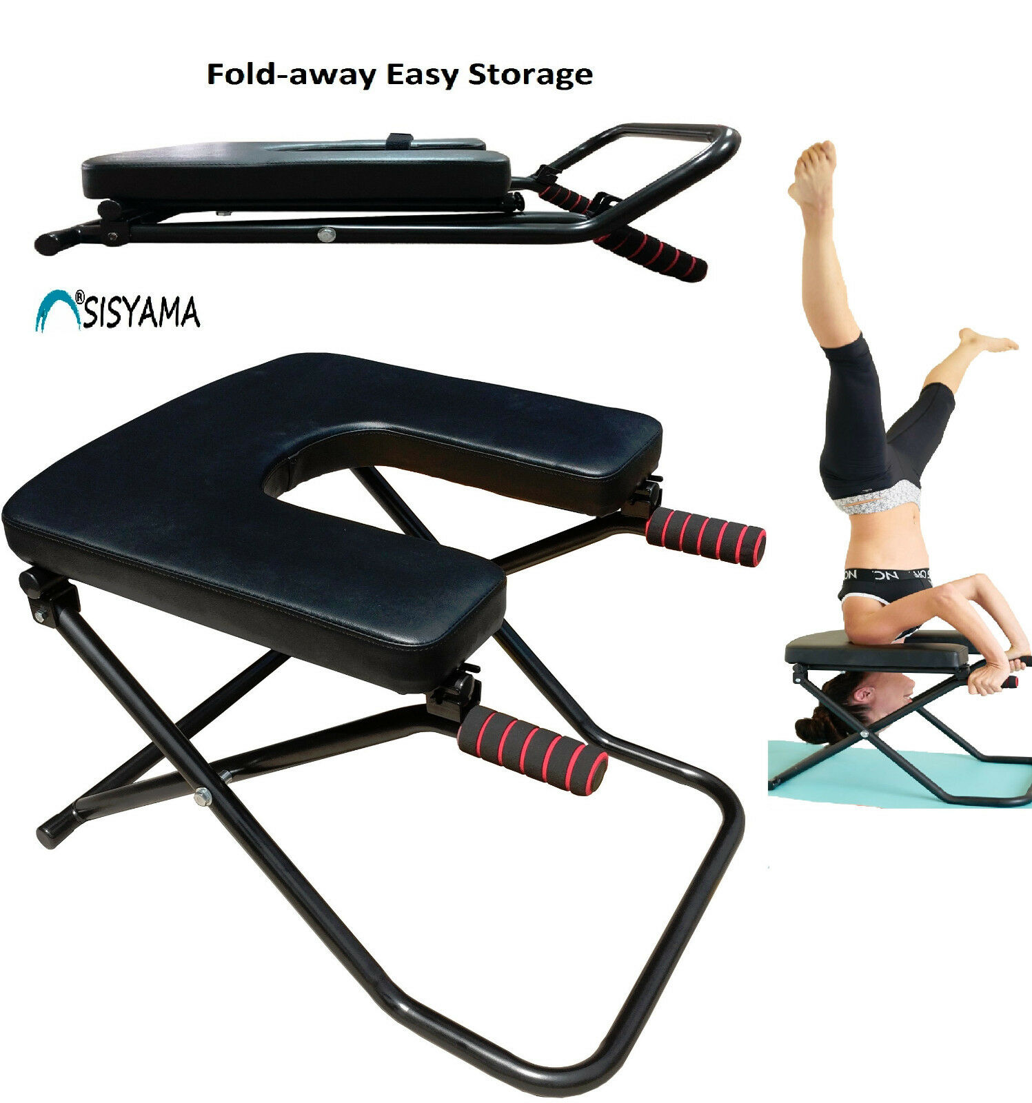 SISYAMA® Fitness Yoga Chair INVERSION BENCH BENCH BENCH + WORKOUT MANUAL Headstand Handstand 86a4f4