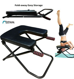 Details Zu Sisyama Fitness Yoga Chair Inversion Bench Workout Manual Headstand Handstand
