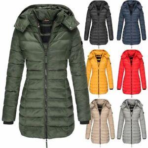 Women-Winter-Warm-Padded-Quilted-Coat-Hooded-Puffer-Jacket-Parka-Outwear-Long