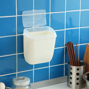 Wall-Mounted-Trash-Can-Rubbish-Garbage-Dust-Case-Holder-Bin-Home-Space-Saver