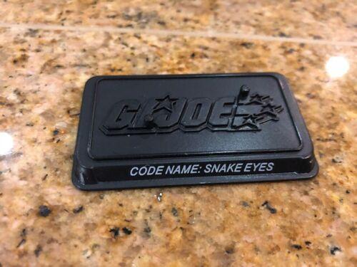 GI Joe 25th Ann Figure Stand Cobra figure le nom de code snake eyes