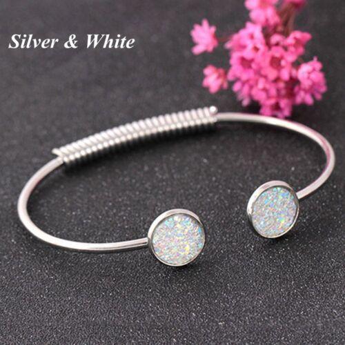Cadeaux Sweet Fashion Jewelry Réglable Bracelet Brillant Sequin Cuff Bangle