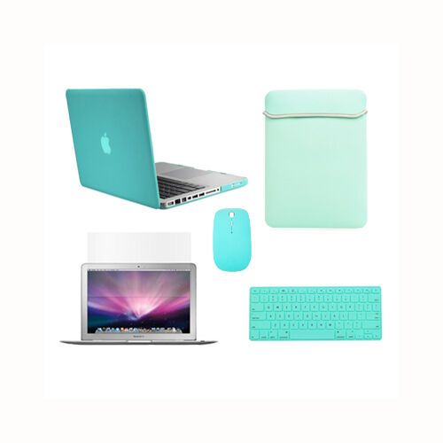"""Key+LCD 5in1 Rubberized Hot Blue Case fr Macbook PRO15/"""" A1398//Retina Bag+Mouse"""