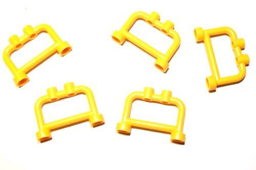 5x LEGO® 4083 Geländer Zaun Gitter Bar 1x4x2 mit Noppen NEU Gelb