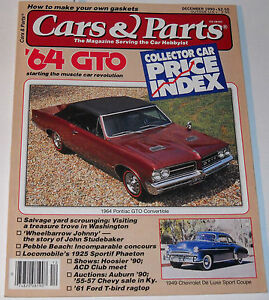 Cars Parts Magazine December 1990 Collector Car Price Index 64 Gto Ebay