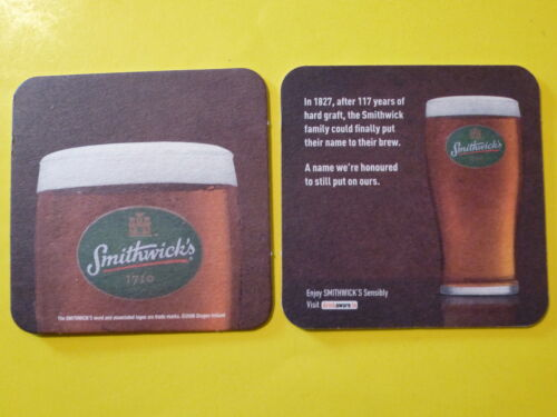 Beer Brewery COASTER SMITHWICK/'S Pale Ale ~ Kilkenny County Ireland Since 1710