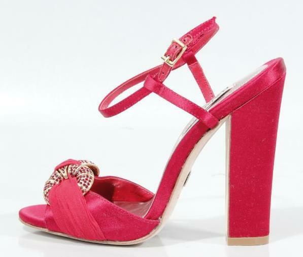 costo effettivo New BADGLEY MISCHKA rosso rosso rosso satin open-toe jeweled scarpe heels 5 - very dressy  di moda