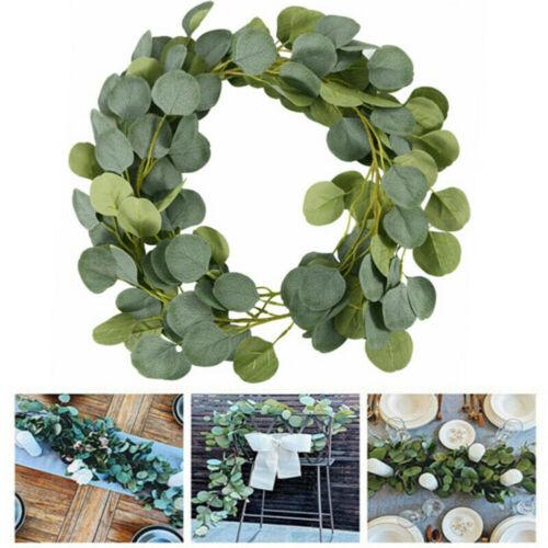 Artificial Eucalyptus Garland Hanging Rattan Vine Ivy Wedding Flowers Decoration
