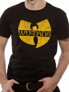 Wu-Tang-Clan-039-Distressed-Logo-039-T-Shirt-Official-Wu-Merch-UK-Seller