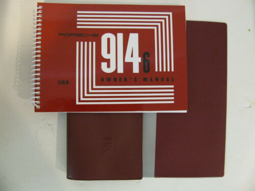 Porsche 914-6 repro owners manual of the nla factory original manual cover