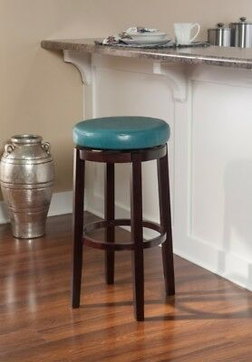 Fantastic Teal Blue Aqua Counter Bar Stool Backless Round Swivel Seat Faux Leather 753793912707 Ebay Andrewgaddart Wooden Chair Designs For Living Room Andrewgaddartcom