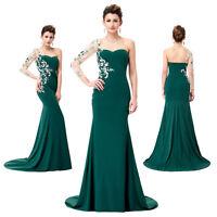 New Elegant Dark Green Women Long Evening Prom Gown Cocktail Dress Size 4~18