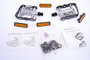 VP-CLIPLESS-FLAT-CLIP-IN-PEDALS-W-SHIMANO-SPD-CLEATS
