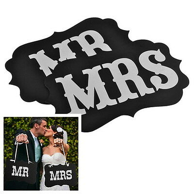 Mr & Mrs Letter Photo Booth Garland Banner Wedding Party Photography Props   KK