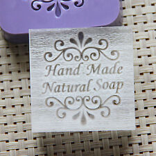 5X5CM Handmade Soap Seal Stamp Mold Chapter Natural Acrylic Glass Customized DIY