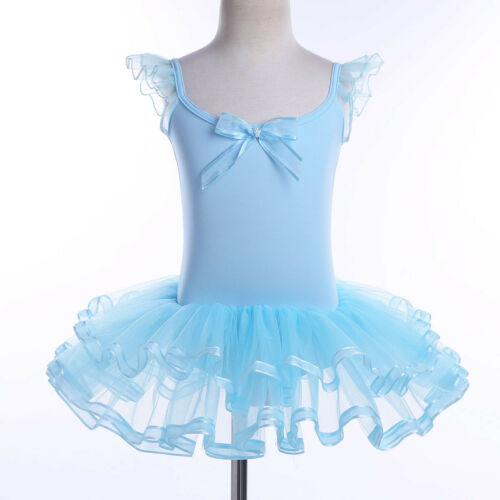 Girl Kids Baby Ballet Dance Dress Ballerina Leotard Tutu Skirt Dancewear Costume