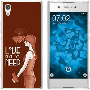 newest 33775 56fc3 Details about Silicone Case for Sony Xperia XA1 Silicone Case in Love M3  Cover Cover