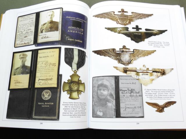 US Army WW1 AIR SERVICE PILOT WINGS FLIGHT BADGE INSIGNIA REFERENCE BOOK G