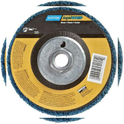 "Norton Non-Woven Depressed Center Rapid Strip Wheel 4-1//2/"" Diameter,..."