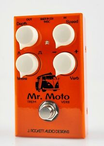 New-J-Rockett-Audio-Tour-Series-Mr-Moto-Tremolo-Reverb-Guitar-Effects-Pedal