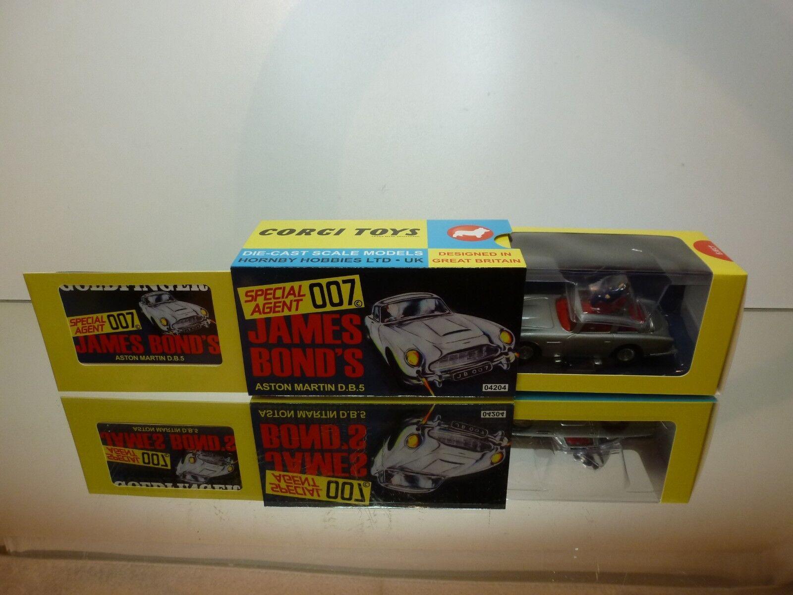 CORGI TOYS 4204 ASTON MARTIN DB5 JAMES BOND 007 -  gris 1 43 - NEAR MINT IN BOX  pas de minimum