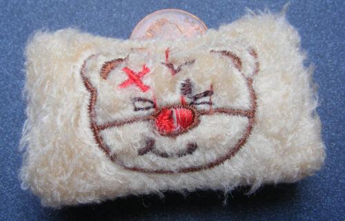Cojín Marrón único escala 1:12 con una mano cosida animal tumdee Casa De Muñecas