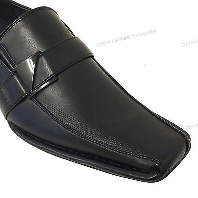 501468e881bd New Mens Dress Shoes Casual Loafers Elastic Slip On Fashion Buckle Italian  Sizes