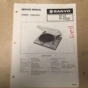 sanyo service manual for the tp j20 turntable ebay rh ebay com Sanyo Phone Sanyo Flat Screen TV