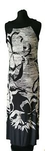 ROMAN-BLACK-WHITE-MAXI-DRESS-UK-Size-14