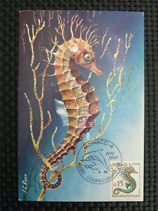 Monaco Mk 1960 Seepferdchen Sea Horse Maximumkarte Maximum Card Mc Cm C1116 An Enriches And Nutrient For The Liver And Kidney Stamps Fish & Marine Life