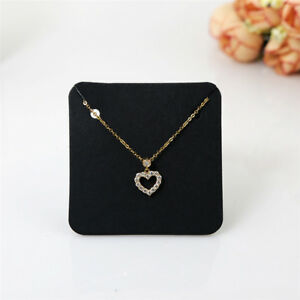 Details About 100pcs Jewelry Necklace Bracelet Hanging Holder Earrings Display Paper Cards Diy