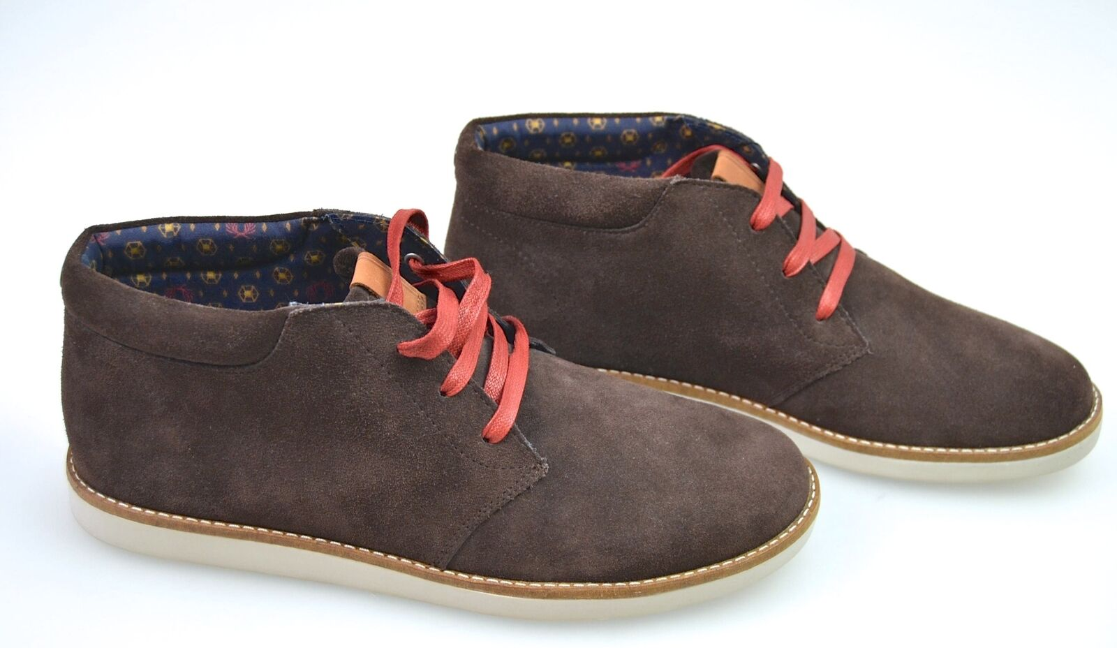FRED PERRY MAN SNEAKER POLISH SHOES CASUAL FREE TIME SUEDE CODE B3142