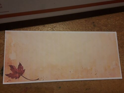 FALL TREE LEAVES AUTUMN Themed Envelopes  100 Count Peel and Stick Envelopes